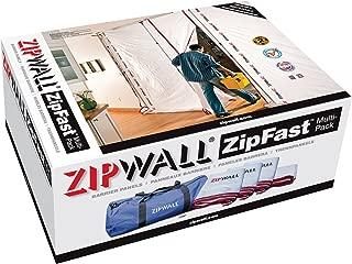 ZipWall ZFMP ZipFast Reusable Barrier Panels for Dust Barriers, Multi-Pack