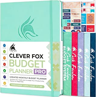 Clever Fox Budget Planner Pro – Financial Organizer + Cash Envelopes. Monthly Finance Journal, Expense Tracker & Personal ...