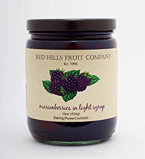 Red Hills Fruit Company Fruits In Light Syrup, Marionberry, 16 Ounce, 4 Count