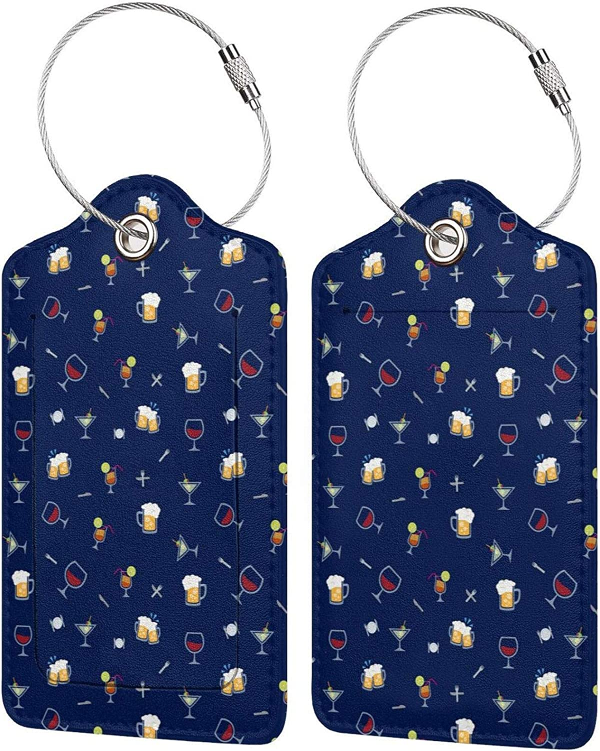 HHFASN Cute Popular brand Max 53% OFF in the world Drink Pattern Tags Luggage 2-Pack Travel