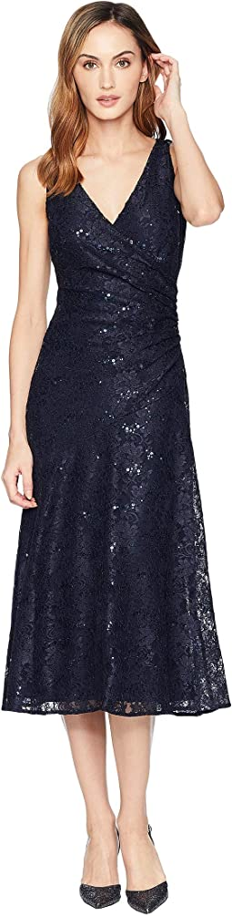 Grace Floral Scallop Lace Castina Sleeveless Day Dress