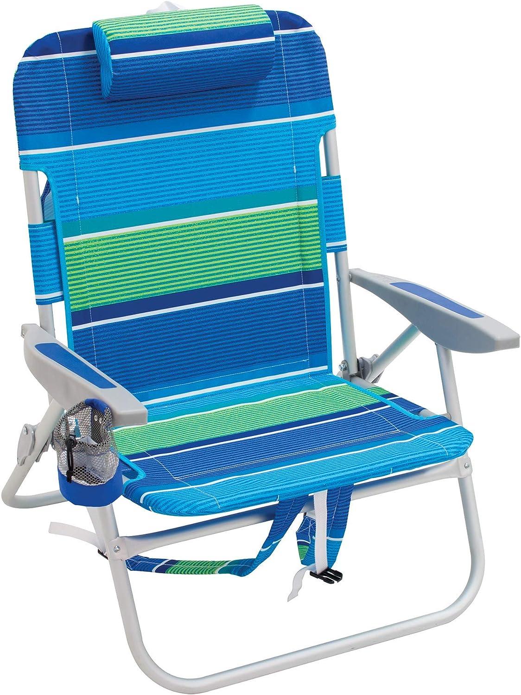 Rio Gear Big Guy Backpack Beach Chair  Baja Boho Pinstripe