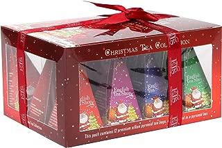 English Tea Shop Gift Box Red with Santa Design Nylon Pyramid, 24 Gram