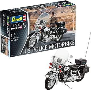 Revell 07915 – Maqueta de Motocicleta 1: 8 – US Police Motor Bike en Escala 1: 8 Niveles, 4, orginalgetreue imitación con Muchos Detalles
