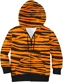 Rainbow Rules Tigger Stripes Winnie The Pooh Inspired Kids Zip Up Hoodie Unisex