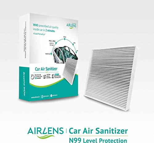 PERSAPIEN Airlens Car Air Sanitizer Air Purifier Cleans Air in 2 Minutes with Award Winning AMT Technology Sanitizes ...