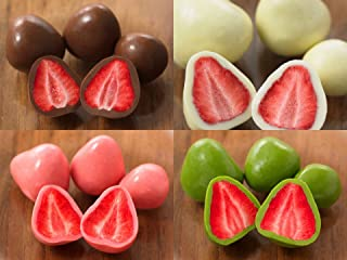 Muji Set of 4 Packs Coated Strawberry (Chocolate, White Chocolate, Strawberry Chocolate, Matcha Chocolate) (50g/each) [Japan Imported] Yummy