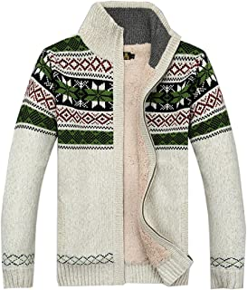 Kedera Fashion Winter Cotton Knitted Cardigan Men's Casual Thick Warm Sweater