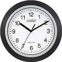 La Crosse Technology Relógio de parede analógico auto-definido WT-3102B de 25 cm WWVB e redefinição automática de DST, pre...