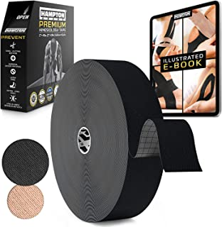 (45 Yards) Bulk Kinesiology Tape Waterproof Roll Sports Therapy Support for Knee, Muscle, Wrist, Shoulder, Back/Original Uncut Premium Therapeutic Elastic & Hypoallergenic Cotton - (Black)