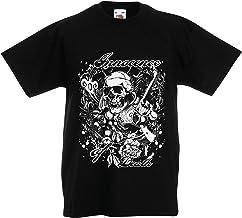 lepni.me Camiseta para Niño/Niña Inocencia de la Muerte - Calavera Arte,