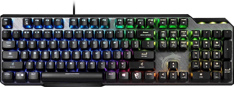 MSI Vigor GK 50 Elite BW DE - Teclado gaming (teclado alemán - QWERTZ)