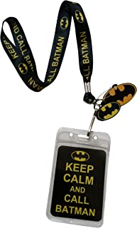 Lanyard with Charm DC Comics Batman Keep Calm and Call Batman Lanyard