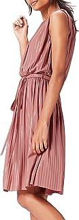 find. Amazon-Marke: find. Abendkleid Damen mit Plissee-Falten und Metallic-Fasern