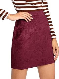 Best burgundy suede skirt Reviews