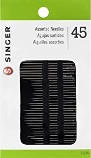 SINGER 01125 Assorted Hand Needles - Betweens, Chenille, Darners, Embroidery, Sharps & Tapestry, Assorted Sizes, 45-Count
