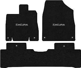Lloyd Mats LogoMat Custom Floor Mats for Acura MDX 2014 - ON 3Pc Front & Back Set, Charcoal Carpet Mats (Hybrid)