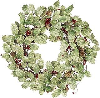 Skrantun 18 Inch Christmas Wreath for Front Door Winter Wreath Christmas Decorations