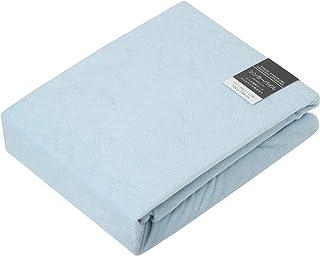 東京 西川 ボックスシーツ セミダブル タオル調 厚さ35cmまでに対応 日本製 綿100% ボーテ ブルー PTG6553017B