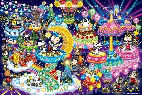 EPOCH Puzzle 1000 pièces Peanuts Snoopy Illumination [Puzzle Brillant] (50 x 75 cm)