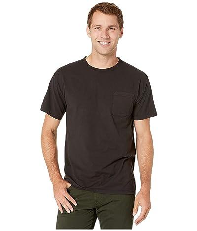 Hanes ComfortWashtm Garment Dyed Short Sleeve Pocket T-Shirt (Black) Men