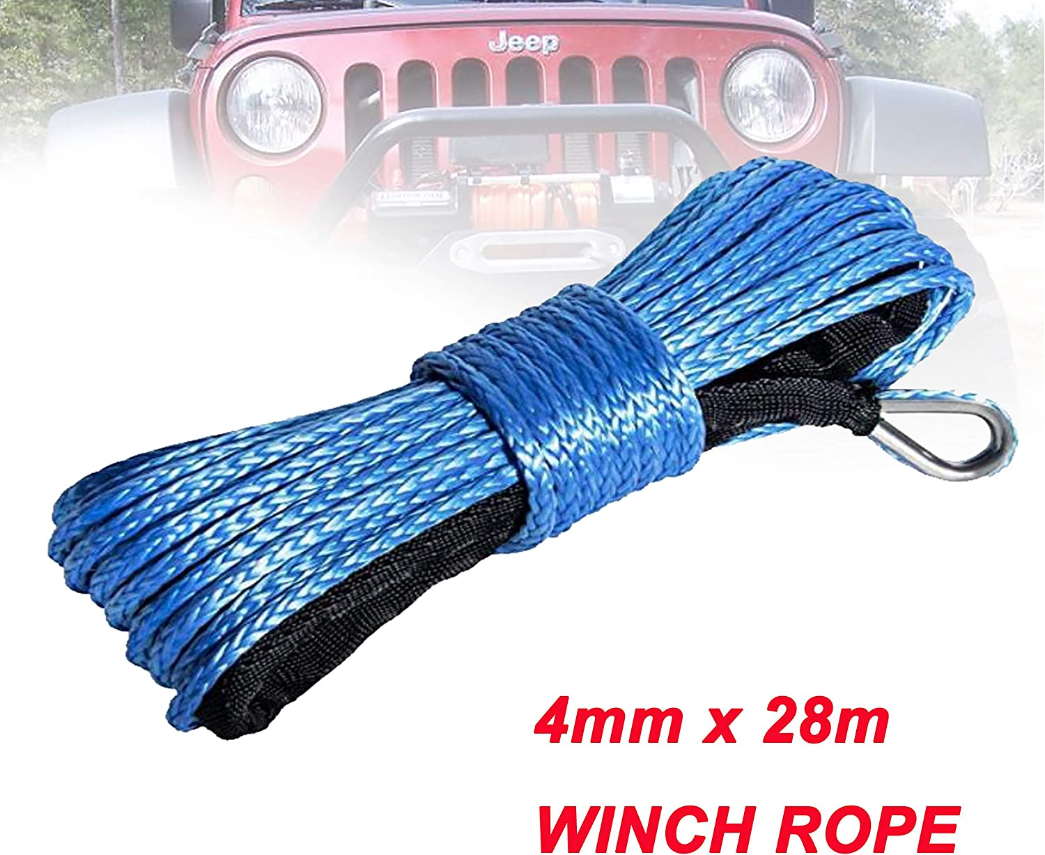 HUACHEN-LS Winch Synthetic Popular brand in the world shipfree Rope 4mm 28m Line x F