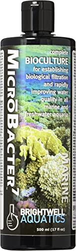 MicroBacter7 - Bacteria & Water Conditioner for Fish Tank or Aquarium, Populates Biological Filter Media for Saltwate...