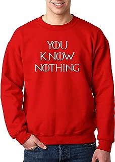 1218 - Crewneck You Know Nothing Jon Snow Game of Thrones Unisex Pullover Sweatshirt