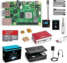 $189 » LABISTS Raspberry Pi 4 Model B 8GB RAM [Newest Released] Starter Kit with 128GB Micro SD Card Preloaded Raspberry Pi OS (Raspbian), Black Case, Fan, Micro HDMI Cable x 2, 5V 3A USB-C Power Supply