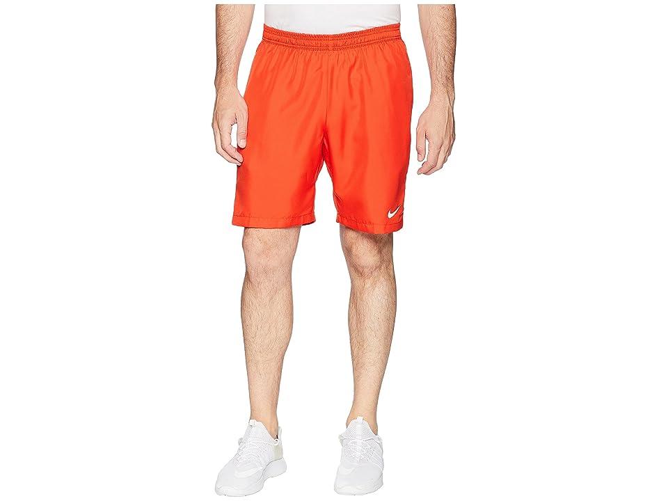 Nike Court Dry 9 Tennis Short (Habanero Red/White/White) Men