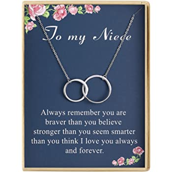 Silver /& Gold Necklace Xmas Gifts for Her Grandmother Auntie Niece Daugther J652