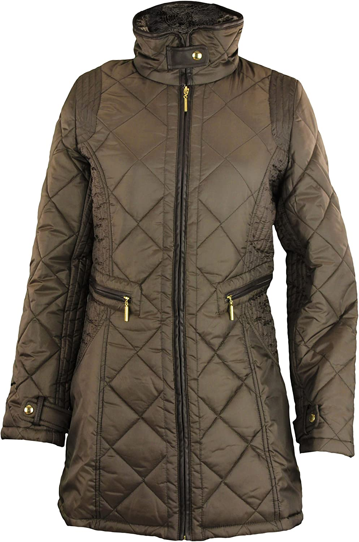 Weatherproof Womens Woven Quilted Full Zip Walker Jacket - Color Options