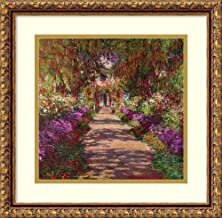 Framed Wall Art Print A Pathway in Monet's Garden, Giverny, 1902 by Claude Monet 17.00 x 16.75