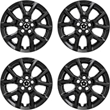 MARROW New Wheel Skin Covers Fits 2014-2019 Jeep Cherokee; 17 Inch; 10 Vent; Black; Plastic; Set of 4; Not Compatible with Steel Wheels