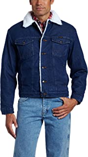 Men's Western Style Lined Denim Jacket