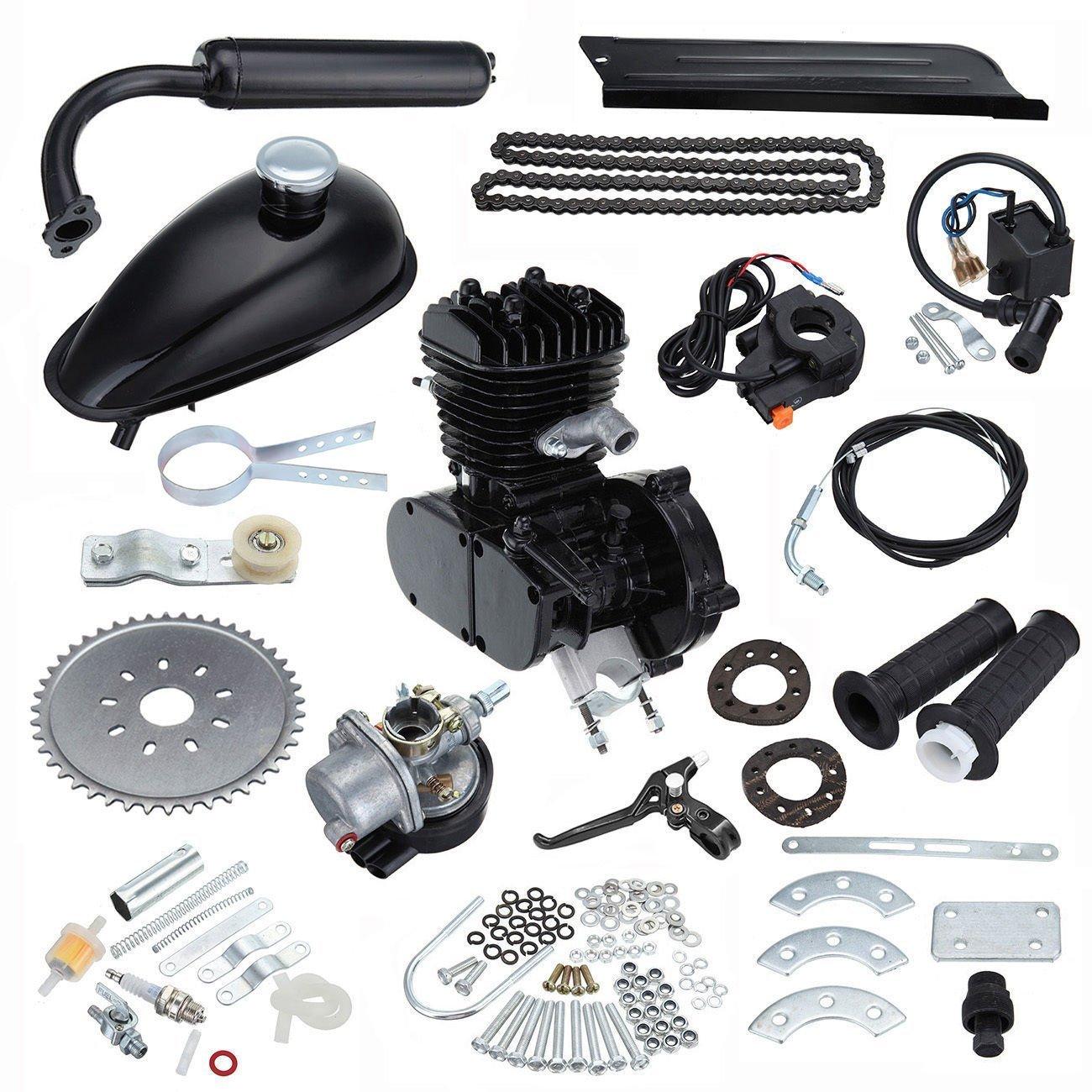 Ambienceo Motor Bicicleta Conversión Kit para Bicicleta Motorizada (50cc Negro): Amazon.es: Deportes y aire libre