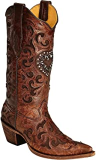 corral crystal heart cowgirl boots