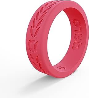 QALO Women's Hibiscus Silicone Ring