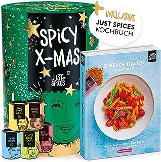 Just Spices Gewürz Adventskalender 2020   Weihnachtskalender mit 24 Gewürzmischungen  italienisches Kochbuch   Gewürze Kalender als Geschenk für Männer und Frauen   insgesamt 4,5 kg