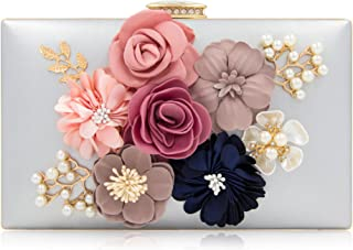 Milisente Women Flower Clutches Evening Bags Handbags Wedding Clutch Purse