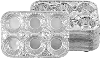 PARTY BARGAINS 6-Cup Aluminum Muffin Pans - (20 Pack) Standard Size Cupcake Aluminum Pans, Favorite Muffin Tin Size for Ba...