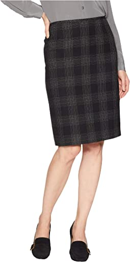 Novelty Plaid Pencil Skirt