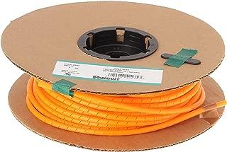 Panduit T25F-C3Y Spiral Wrap, Polyethylene, Orange (100-Foot)