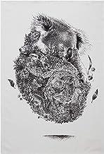 Maxwell & Williams Marini Ferlazzo theedoek Koala & Freunde, 100% Indiase katoen, wit, 50 x 70 cm