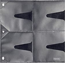 Vaultz CD Binder Pages, 8 CD Capacity per Sheet, 25 Sheets per Box, Clear and Black (VZ01401)