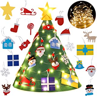 Legendog 3D DIY Felt Christmas Tree Set with 18Pcs Xmas Hanging Ornaments, Xmas Gifts for Kids New Year Christmas Decorations Toddlers Gifts