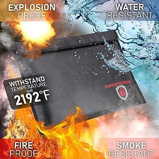 Fireproof Document Bag 2192℉ Triple Layer Fire-Resistant Money Bag 15