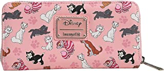 Loungefly Disney Cats Wallet Zip Around Clutch Faux Leather