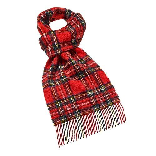 be84fc6c3e5 Royal Stewart lambswool red tartan check long scarf BRITISH MADE