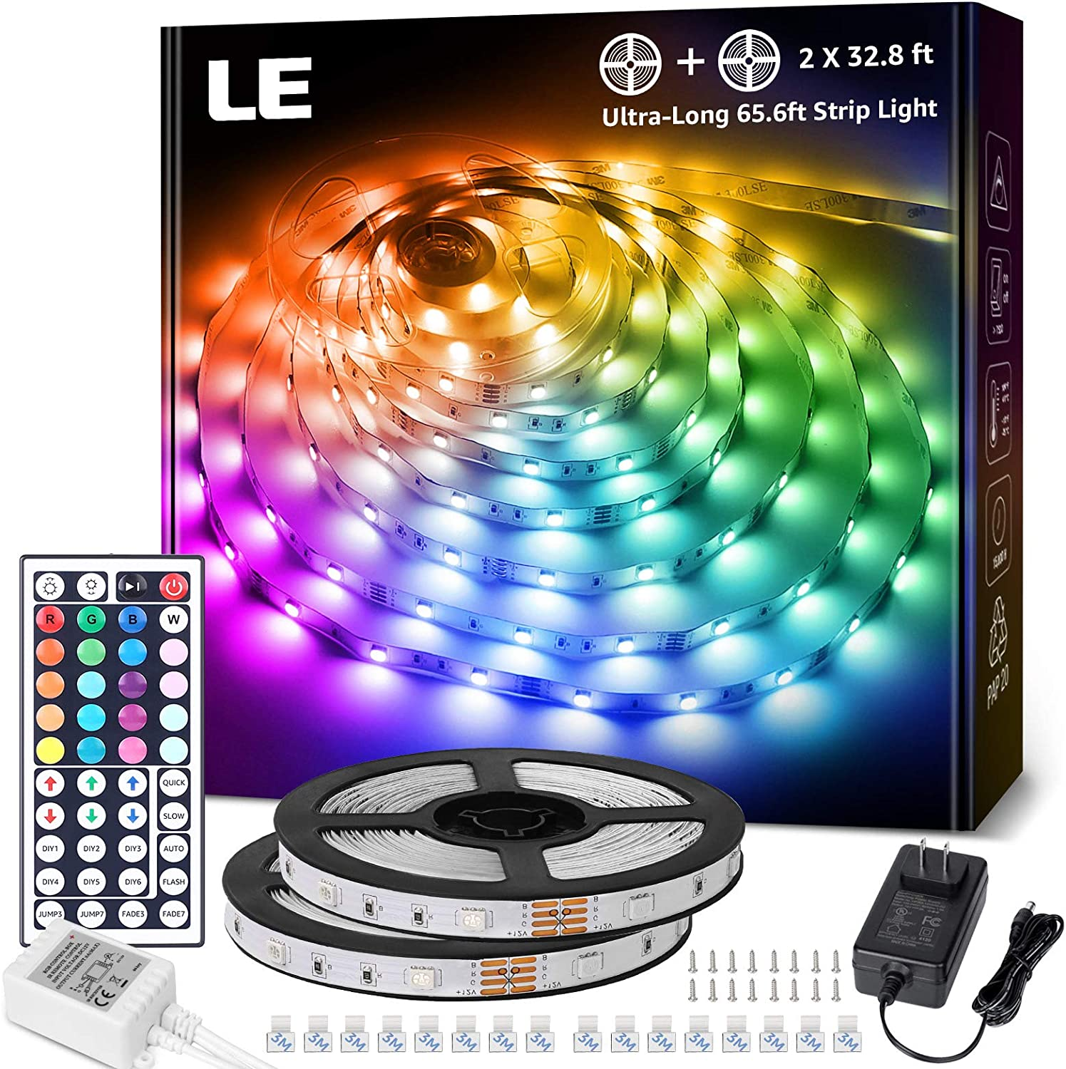 LE 65.6ft LED Strip Lights 5050 Strips Arlington Mall 5 ☆ very popular Ultra-Long RGB with